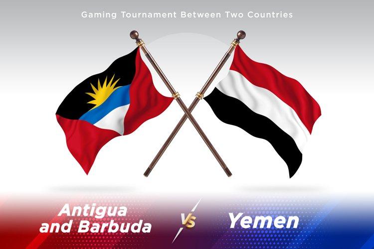 Antigua vs Yemen Two Flags example image 1