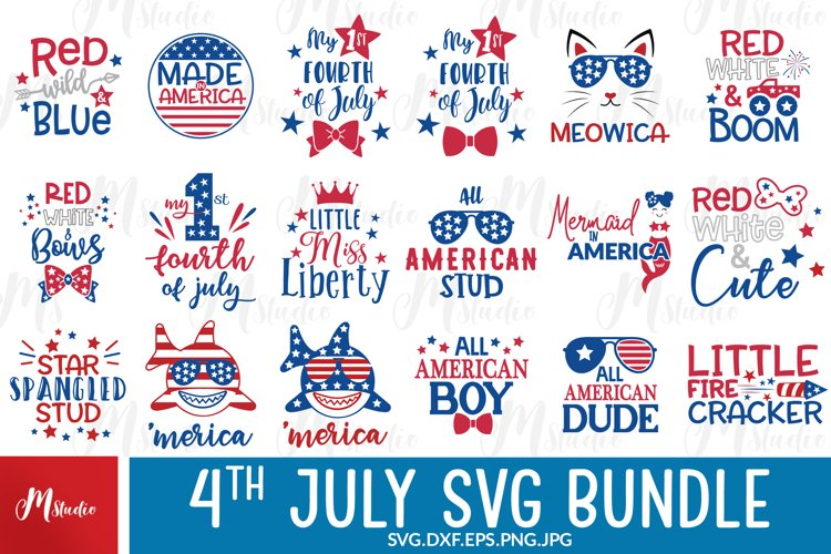 4th of July SVG Bundle, SVG Cut Files . example image 1