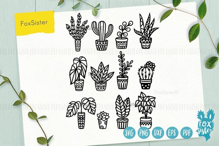 Plants svg bundle, House plants svg, succulents cut file example image 1