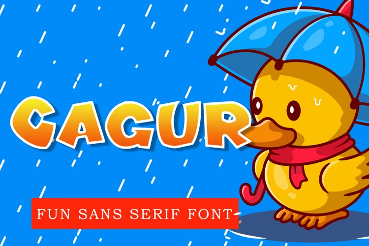 Cagur - Display Font example image 1