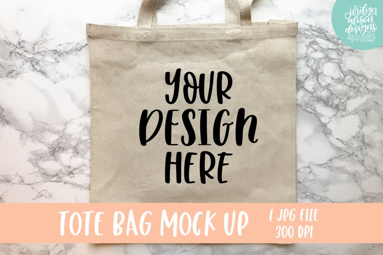Tan Tote Bag Mockup