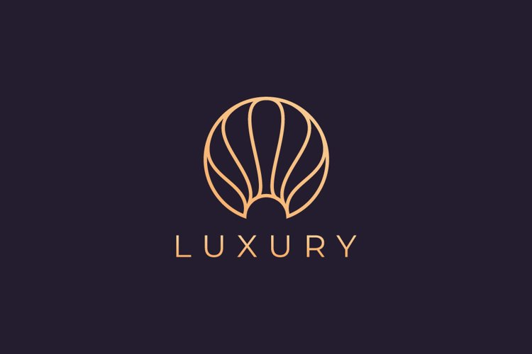 luxurious pearl logo template example image 1