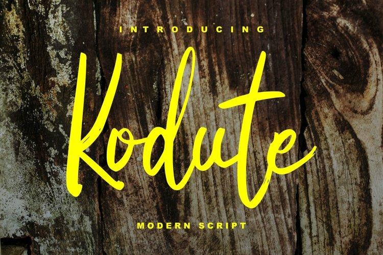 Kodute   Modern Script Font example image 1