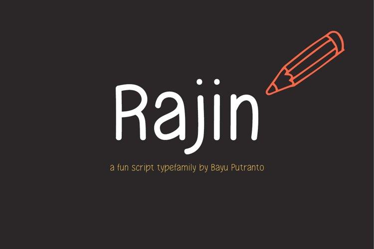 Rajin Script Typefamily example image 1