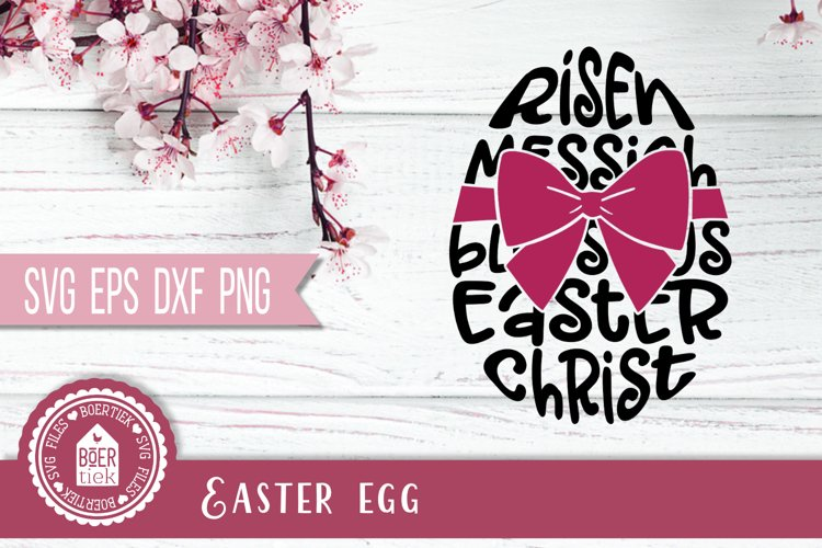 Easter egg with easter words, SVG cutting file