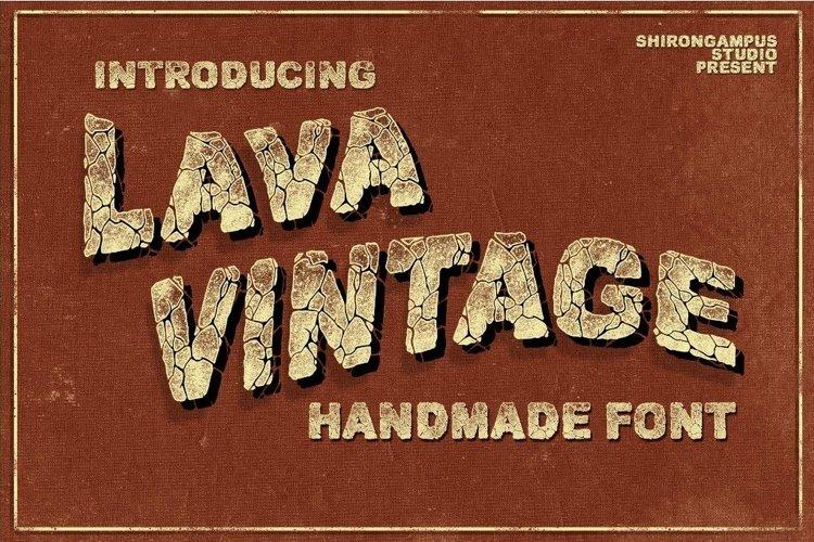 Web Font VINTAGE LAVA Bonus Text Effect example image 1