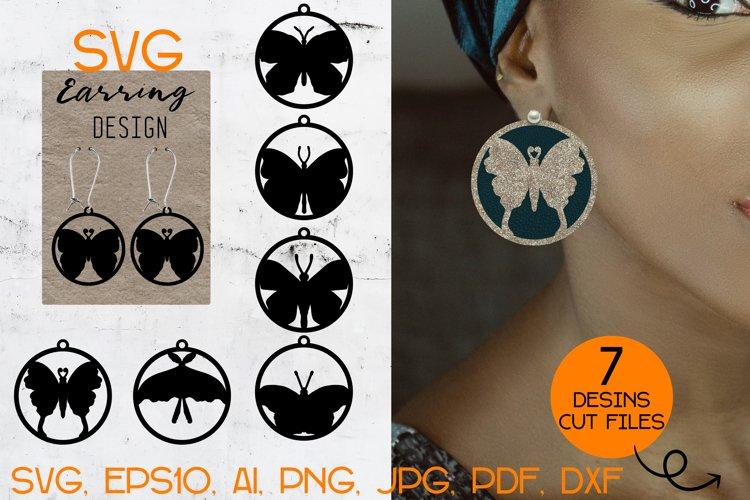 Earrings SVG Bundle / Butterfly earrings / Earrings Template