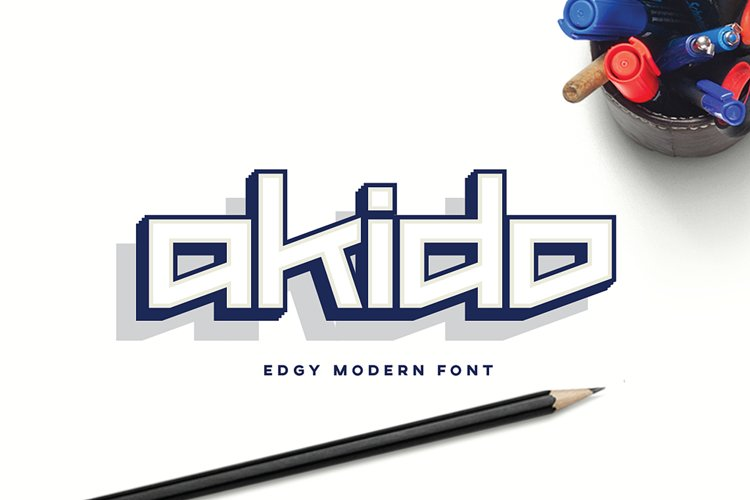 Akido Modern Edgy Font for Logotype and Wordmark example image 1