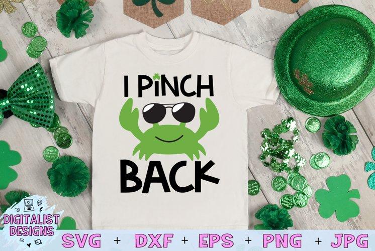 I Pinch Back SVG, St Patrick's Day SVG, Crab SVG example image 1