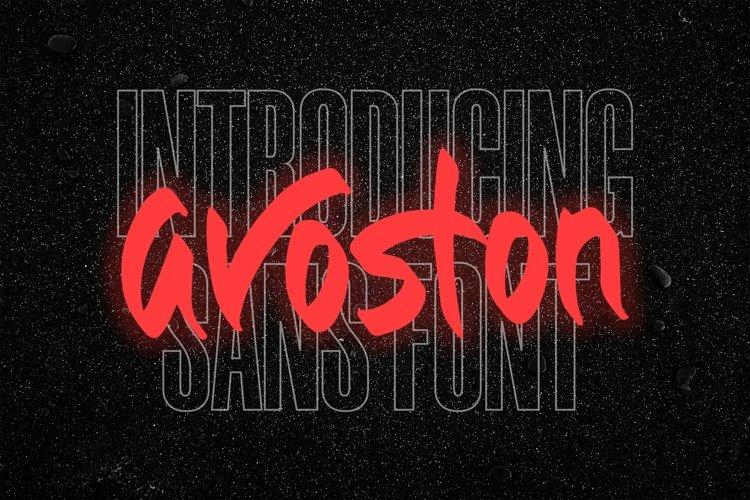 Web Font Avoston - Sans Font example image 1
