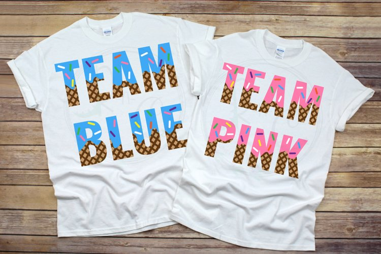 Team Blue or Team Pink SVG, What's the Scoop Gender Reveal example image 1