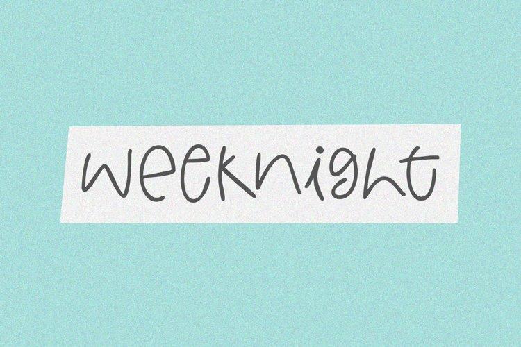 Weeknight - A Fun Handwritten Font example image 1
