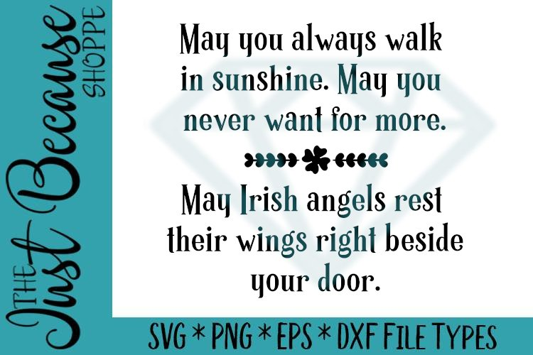 Irish Angels Blessing, St Patricks Day SVG - 0485