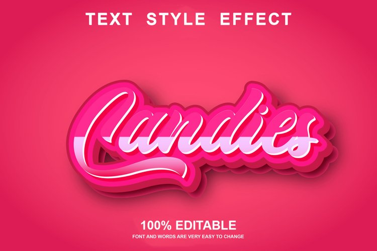 candies text effect editable