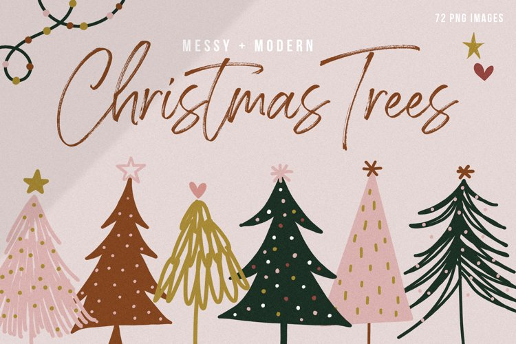 Modern Christmas Trees - Clip Art Collection