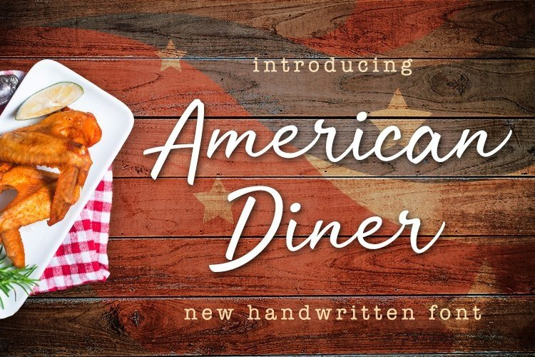 Web Font American Diner example image 1