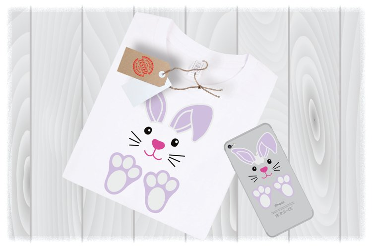 Bunny SVG Files for Cricut Designs | Easter SVG Files example image 1