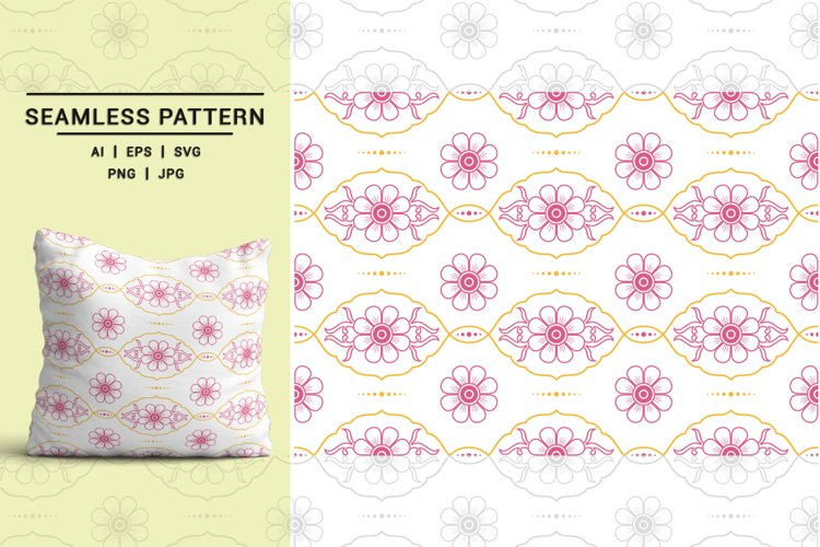 Vintage Floral Seamless Pattern 01 example image 1