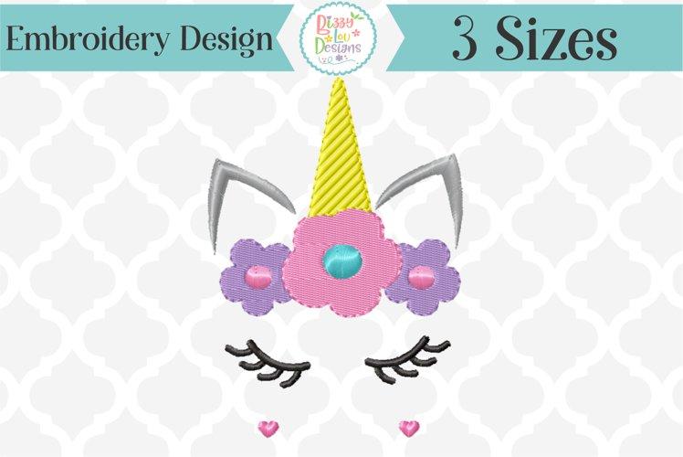 Unicorn Face Embroidery Design