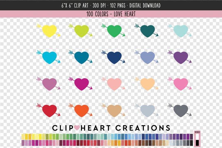 Love Heart Clip Art - 100 Clip Art Graphics example image 1