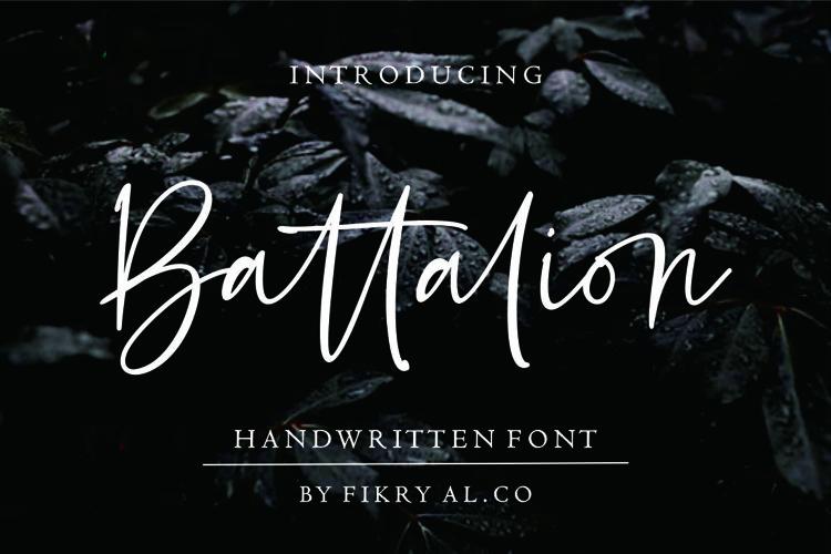 Battalion // handwitten font example image 1