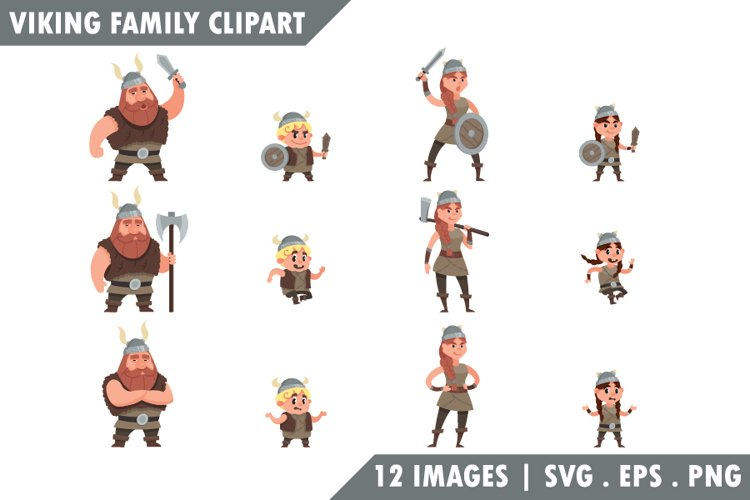 Viking family Clipart.