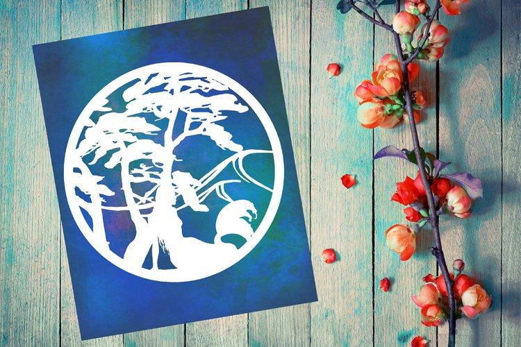 Mermaid Papercut Template, Mermaid SVG, Bathroom Art