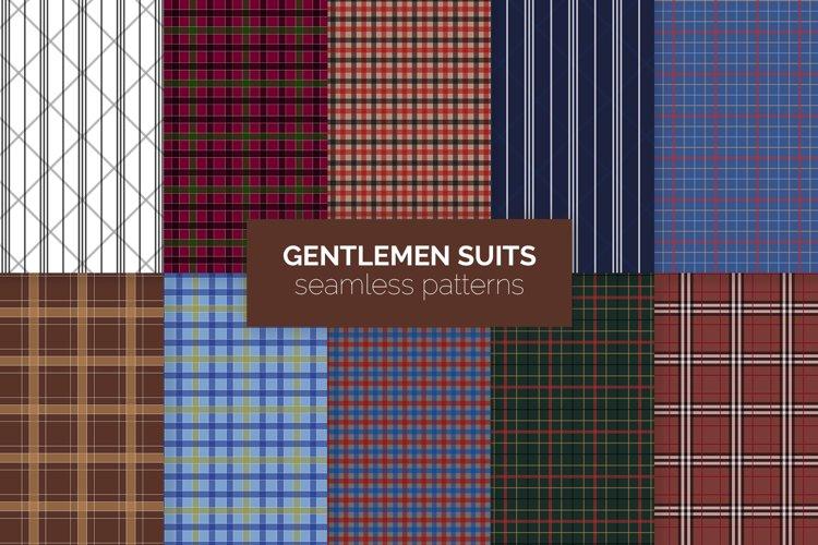 Gentlemen Suits Seamless Patterns example image 1