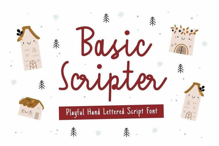 Web Font Basic Scripter Font example image 1