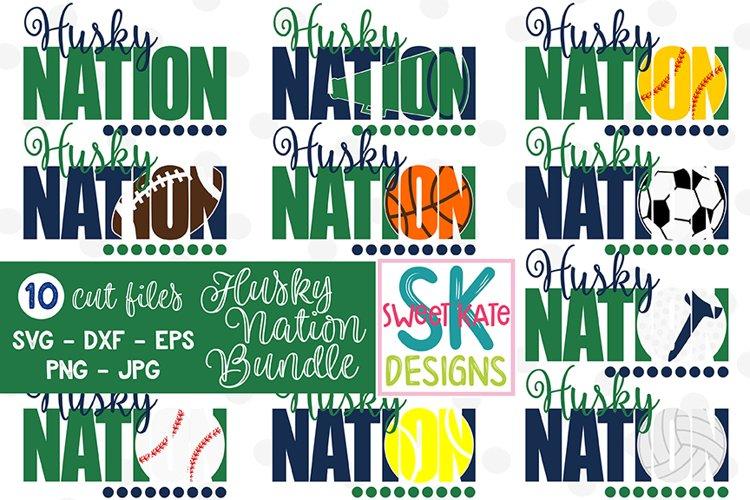 Husky Nation Bundle - 10 - SVG DXF EPS PNG JPG example image 1