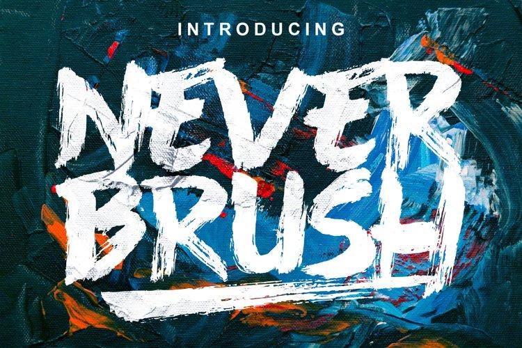 Never Brush - Handwritten Font example image 1