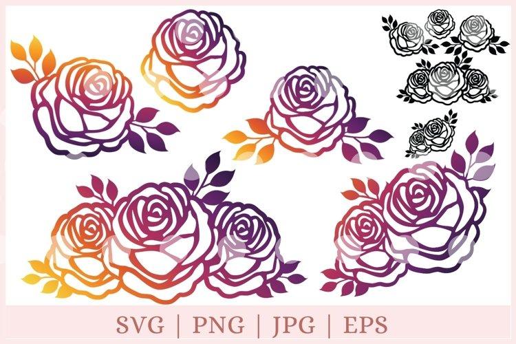 Roses SVG, Rose SVG, Flowers SVG, rose cut file example image 1