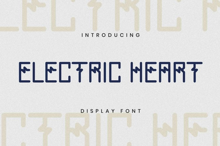 ELECTRICHEART Font example image 1