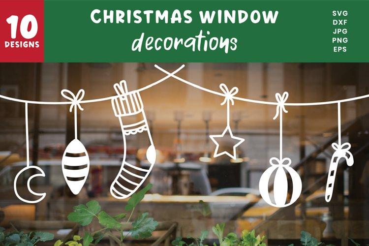 Christmas Bauble Banner Bundle | Window Decoration Svg