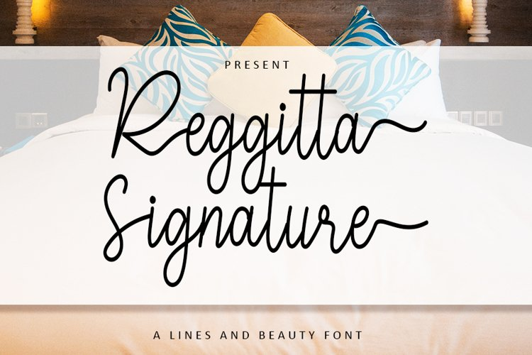 Reggitta Signature | A Lines And Beauty Font example image 1