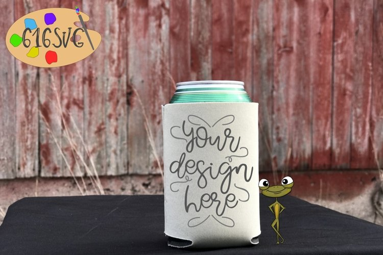 Champagne Can Cooler Mockup example image 1