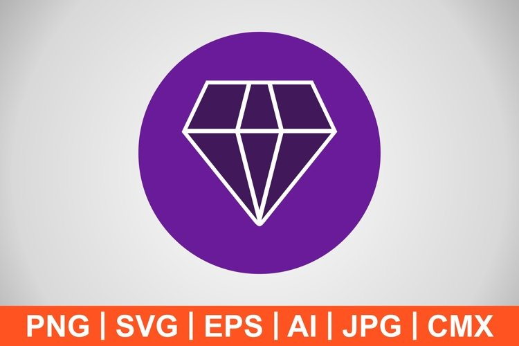 Vector Diamond Icon example image 1