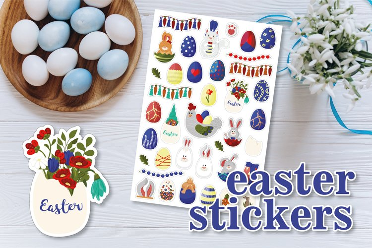 Easter / Spring / Rabbits Stickers / Eggs