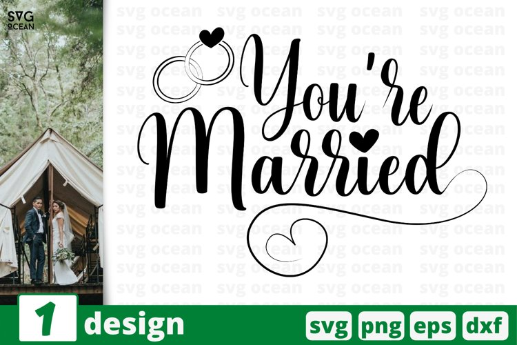 YOU ARE MARRIED SVG CUT FILE | Bride cricut | Groom quote example image 1