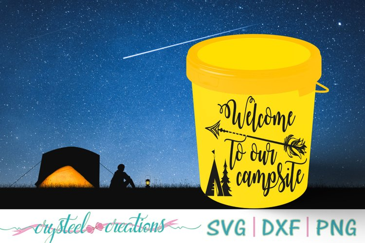 Welcome to our campsite SVG, DXF, PNG