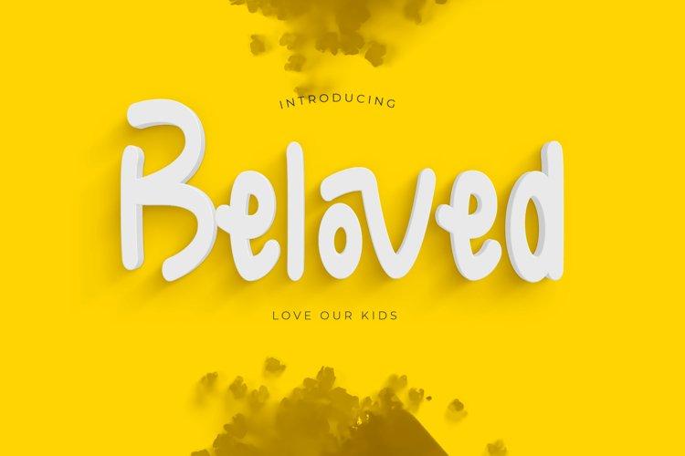 beloved font example image 1