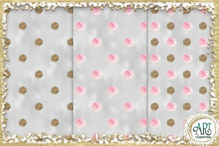Glitter digital paper-pink,white,gold-digital textures JPEG example 6