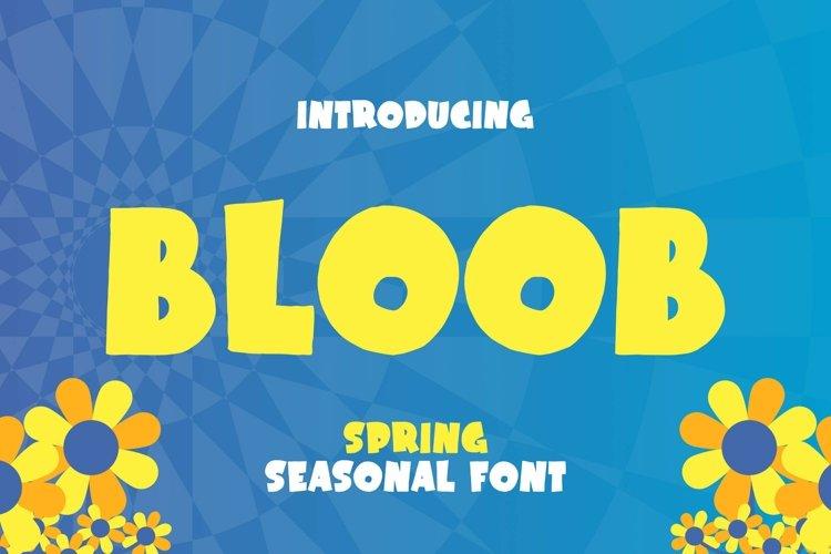 Web Font Bloob Font example image 1