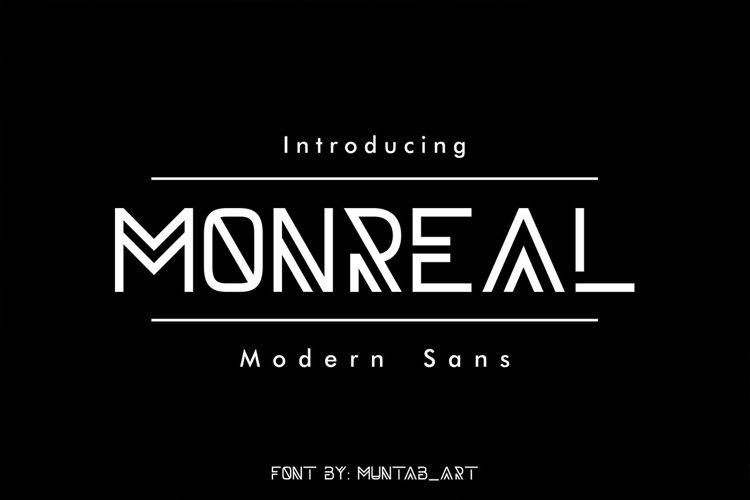 Monreal | Modern Font example image 1