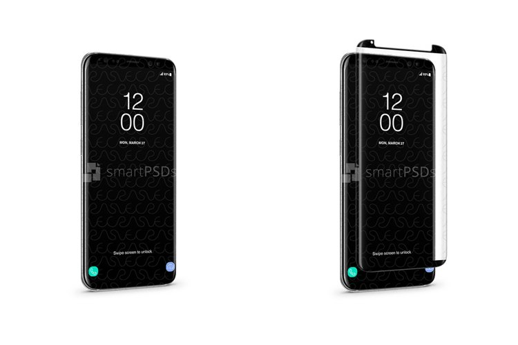 Samsung Galaxy S8 Tempered Glass Template 2017 example image 1