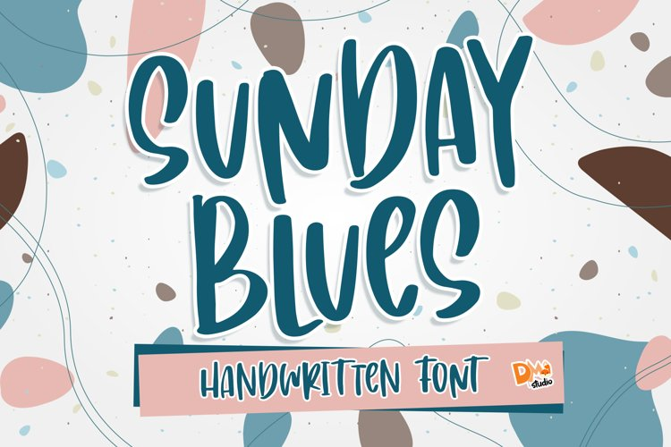 Sunday Blues - Handwritten Font example image 1