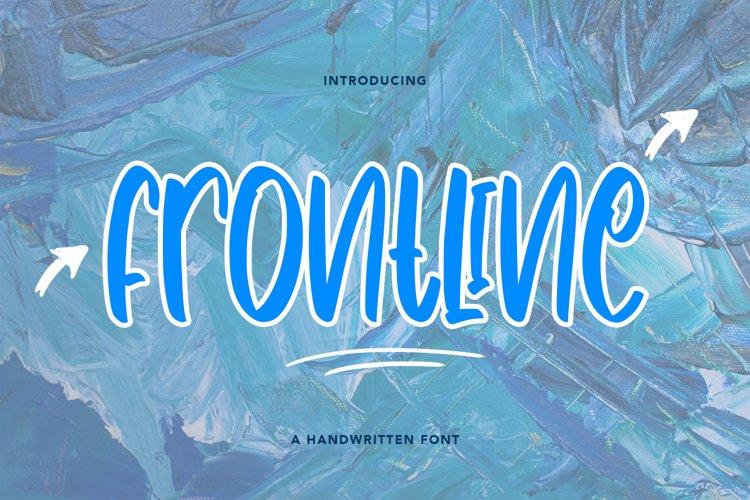 Frontline - Cute Handwritten Font example image 1