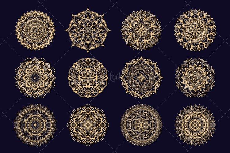 12 Set Mandala Line Art for Crafting example image 1