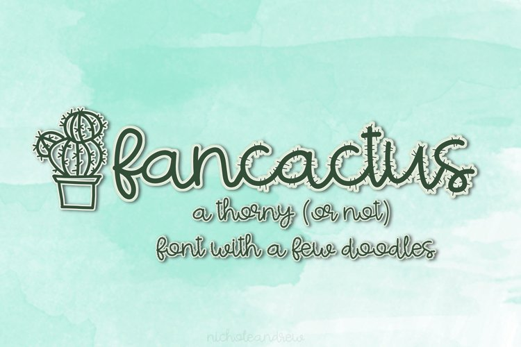 Fancactus - A Lowercase Script Font With Doodles! - Free Font Of The Week Font