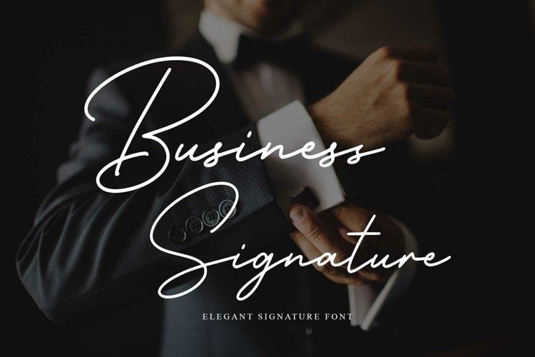 Business Signature - Elegant Script Font example image 1